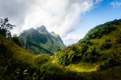 2195 nad teren jako chiang rożka dao wykoślawienia gromadzki doi wysokich przestawnych równych wapnia luang metrów halnych gór sz Obrazy Stock