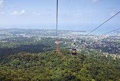 nad tramwajem lotnicze góry Zdjęcie Royalty Free