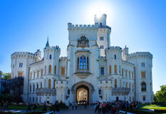 NAD Vltavou του Castle Hluboka στη Δημοκρατία της Τσεχίας Στοκ Εικόνα