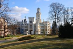 Nad Vltavou van Hluboka van het kasteel royalty-vrije stock afbeeldingen