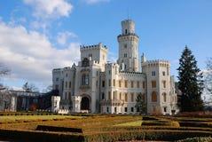 Nad Vltavou van Hluboka van het kasteel Stock Foto's