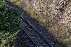 Nad widok Cection Kolejowy ślad i tajni agenci Fotografia Royalty Free