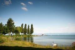 nad widok constance jezioro obraz stock