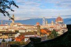 nad widok Florencja miasto od San Miniato zdjęcie stock