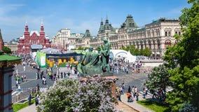 Nad widok plac czerwony w Moskwa mieście Fotografia Stock