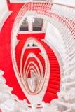 Nad widok z ślimakowatym schody Zdjęcie Royalty Free