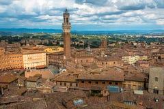 Nad widokiem na Siena Obraz Royalty Free