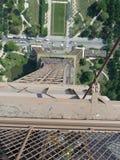 Nad wieżą eifla Zdjęcie Royalty Free