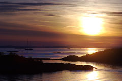 nad wieczór światła skerries Zdjęcia Royalty Free