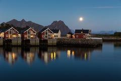 Nad wodnym budynek mieszkalny w Norway Zdjęcie Stock