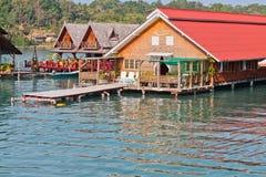 Nad wodnymi bungalowami Obraz Stock