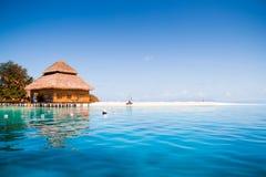 Nad wodnymi bungalowami Zdjęcie Royalty Free