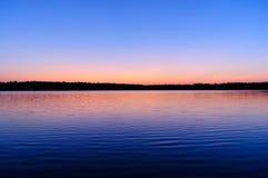 nad wschód słońca piękny jezioro Obraz Stock