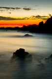 nad wschód słońca piękny wybrzeże Zdjęcie Royalty Free