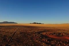 nad wschód słońca pustynny namib Namibia Zdjęcie Stock