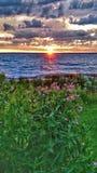 nad wschód słońca wodą Zdjęcia Stock