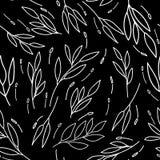 Nad wszystkie liniami opuszcza Abstrakcjonistycznego monochromatycznego bezszwowego wzór ilustracja wektor