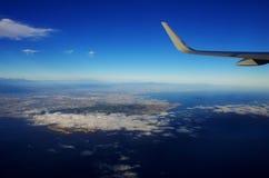 Nad zachodnie wybrzeże i chmury Obrazy Royalty Free