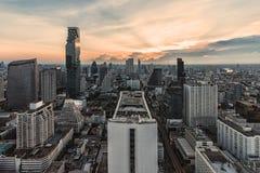 nad zmierzchem Bangkok miasto obrazy stock