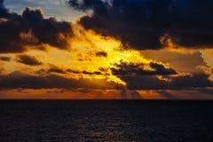 nad zmierzchem dramatyczny ocean Zdjęcie Royalty Free