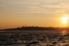 nad zmierzchem złoty róg Istanbul Fotografia Stock