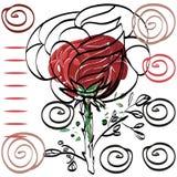 Nada cartão cor-de-rosa do desenho significativo do contorno para felicitações Imagens de Stock Royalty Free