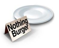 Nada concepto de la hamburguesa ilustración del vector