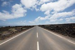 Nada erradamente com as estradas em Lanzarote Imagens de Stock Royalty Free
