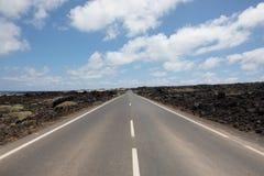 Nada erradamente com as estradas em Lanzarote Foto de Stock Royalty Free
