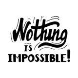 Nada es imposible poniendo letras Fotos de archivo