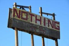Nada firma en Rt 10 Fotos de archivo libres de regalías