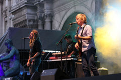 Nada Surf, concert in Paris stock photo