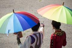 Nadaam节日的开头在Mongolie 库存图片