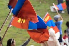 Nadaam节日的开头在Mongolie 免版税库存图片