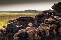 The Nadab floodplains from the top of Ubirr rock. Australia Stock Photography