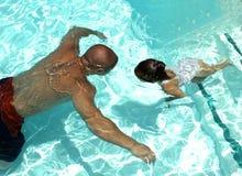 Nadada al papá Imagen de archivo libre de regalías