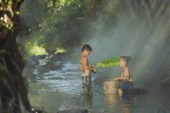 Nadada das crianças Foto de Stock Royalty Free