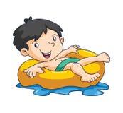 Nadada del niño ilustración del vector