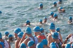 Nadada del Triathlon Fotos de archivo