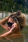 Nadadas da mulher Imagens de Stock Royalty Free