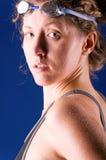 Nadador atractivo de la mujer Fotografía de archivo
