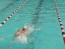 Nadador competitivo Fotografía de archivo libre de regalías