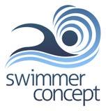 Nadador Concept da natação ilustração royalty free