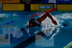 Nadador da sombra Imagens de Stock