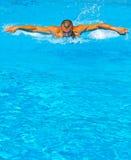 Nadador de la mariposa Imágenes de archivo libres de regalías
