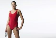 Nadador de sexo femenino confiado Foto de archivo