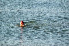 Nadador del canal inglés Imagenes de archivo