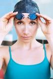Nadador fêmea Imagem de Stock Royalty Free