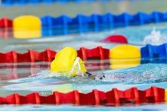 Nadador Head Cap Lane de la natación Imagen de archivo libre de regalías