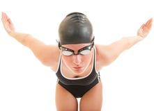 Nadador pronto para ir retrato Imagens de Stock